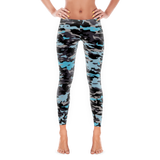 Blue and Black Camouflage Full Pant Leggings By JacksonsRunaway