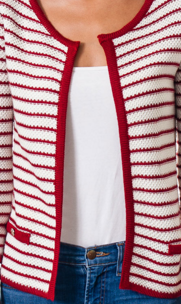 Striped Textured Cardigan Sweater   Jacksons Runaway    5