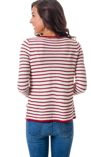 Striped Textured Cardigan Sweater   Jacksons Runaway    4