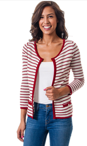 Striped Textured Cardigan Sweater   Jacksons Runaway    1