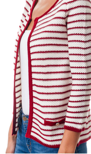 Striped Textured Cardigan Sweater   Jacksons Runaway    3