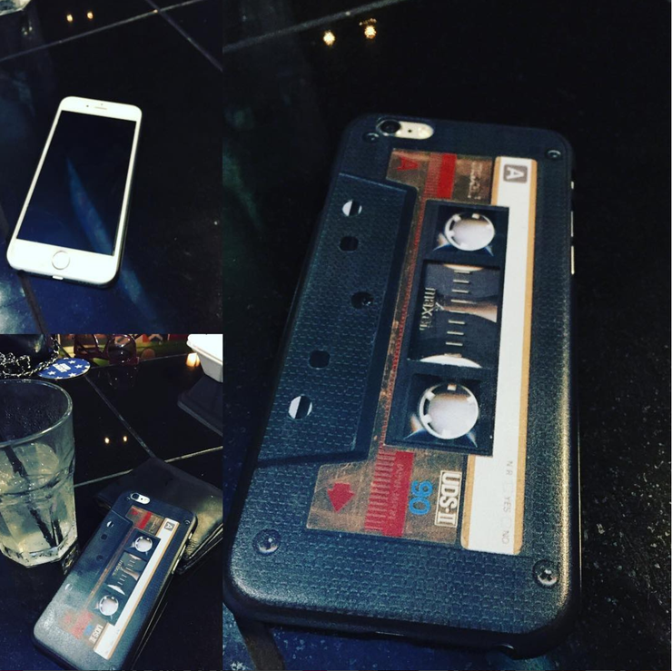 Vintage Cassette Tape iPhone 6 and 6S Hard Case | Black | Cellphone Accessories | JacksonsRunaway