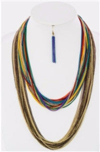 Chain The Rules Layered Colorful Necklace - Jacksons Runaway