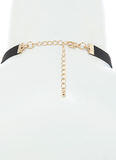 Back   Find Your Way Choker Necklace in Black