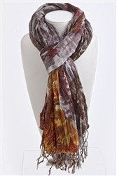 Crinkled Waves Coloful Scarf | Purple/Grey | Accessories | JacksonsRunaway