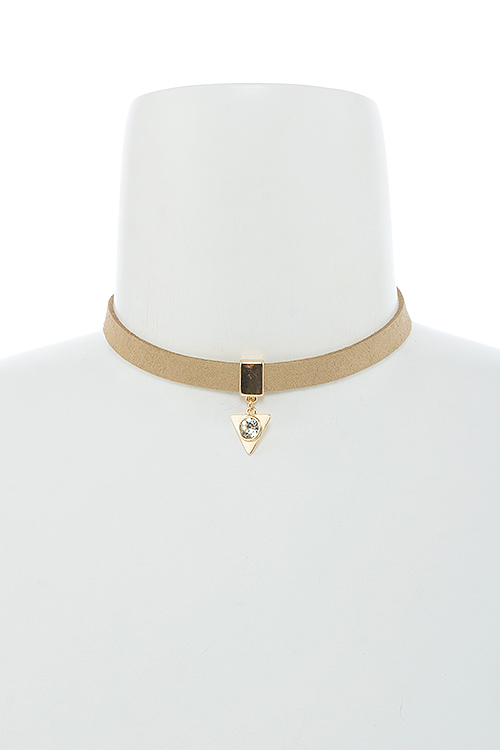 Find Your Way Choker Necklace - Beige | JacksonsRunaway