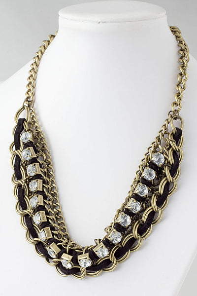 Crystal Sensations Statement Collar Necklace - Jacksons Runaway