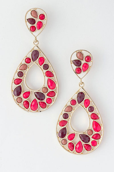 Day Of Decor Chandelier Earrings - Red | JacksonsRunaway