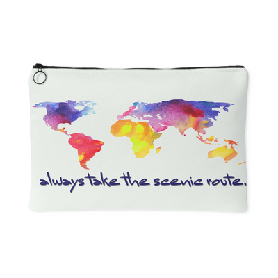 Travel Scenic Routes Carry All Pouch | Large Accessory Pouch | Accessories | JacksonsRunaway