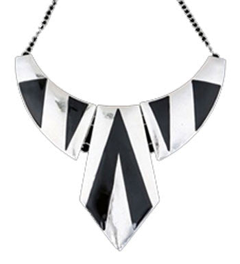 Geometric Bib Necklace - Jacksons Runaway