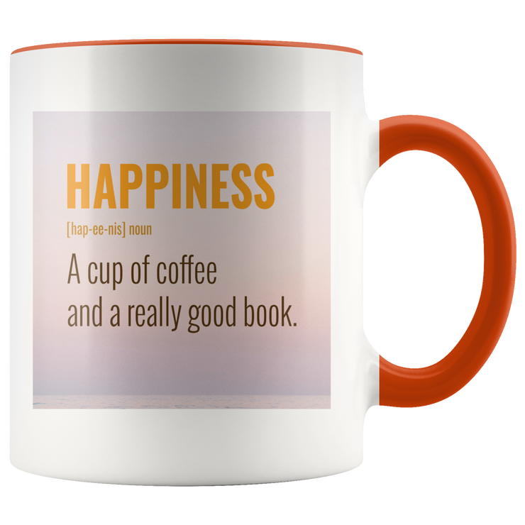 Happiness Mug | Orange | Drinkware | JacksonsRunaway