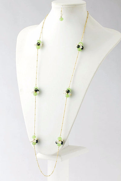 Berry Good Beaded Detail Necklace - Green | JacksonsRunaway