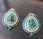 Better Ornate Than Never Statement Post Earrings