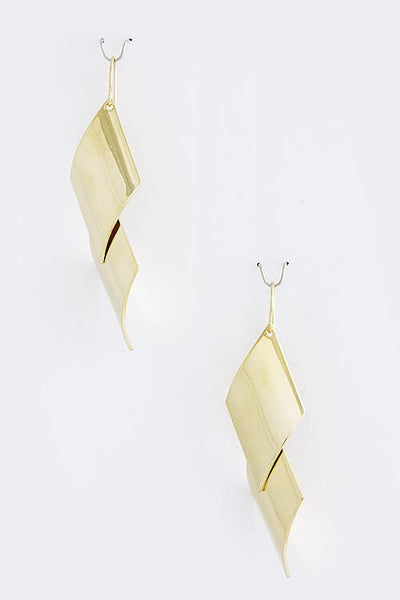 New Addition Drop Earrings - Gold | JacksonsRunaway