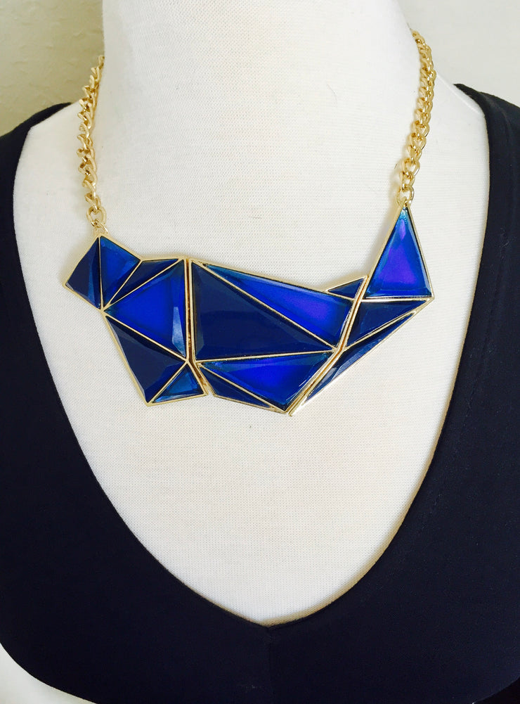 Stained Glass Necklace - Blue | JacksonsRunaway