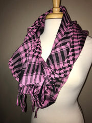 Houndstooth Plaid Lightweight Scarf