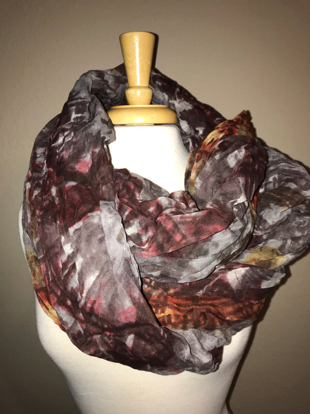 Crinkled Waves Coloful Scarf