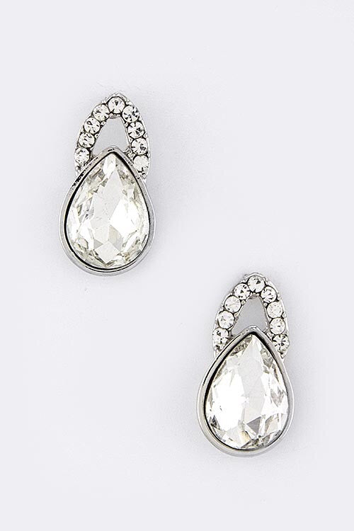Good As Noveau Statement Earrings - Crystal Clear| JacksonsRunaway