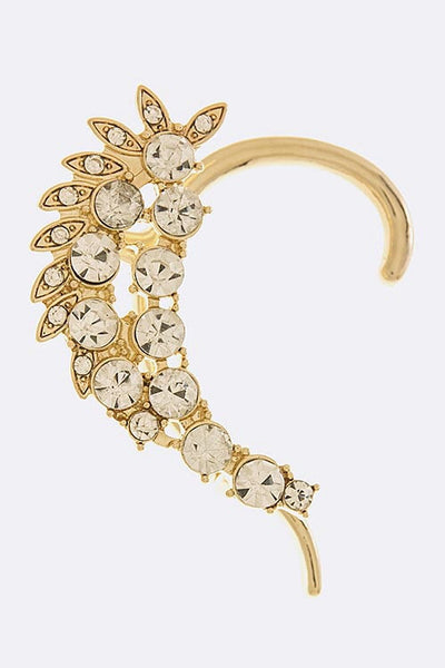Daysprings Glow Gold with Crystals Ear Cuff - Gold | JacksonsRunaway