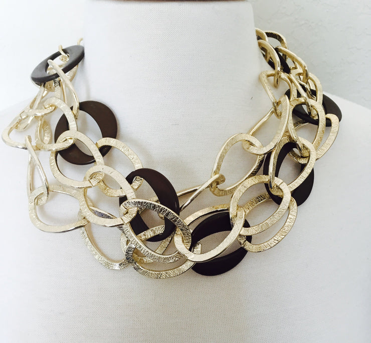 Connect The Links Statement Necklace