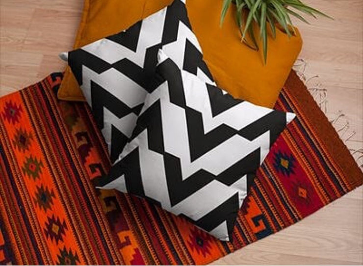 Black and White Square Accent Pillow |  | Home Decor | JacksonsRunaway