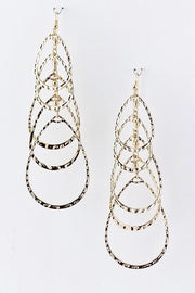 Sooner Or Layers Drop Chandelier Earrings