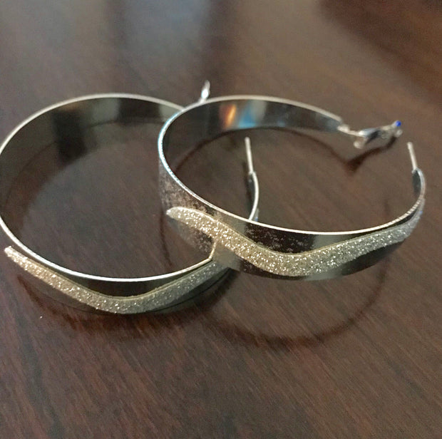 Minimalist Sparkle Hoop Earrings