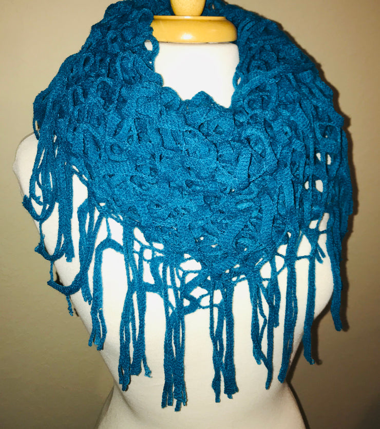 Cut it Out Infinity Knit Scarf