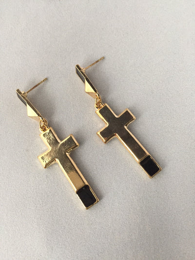 Cross The Line Earrings