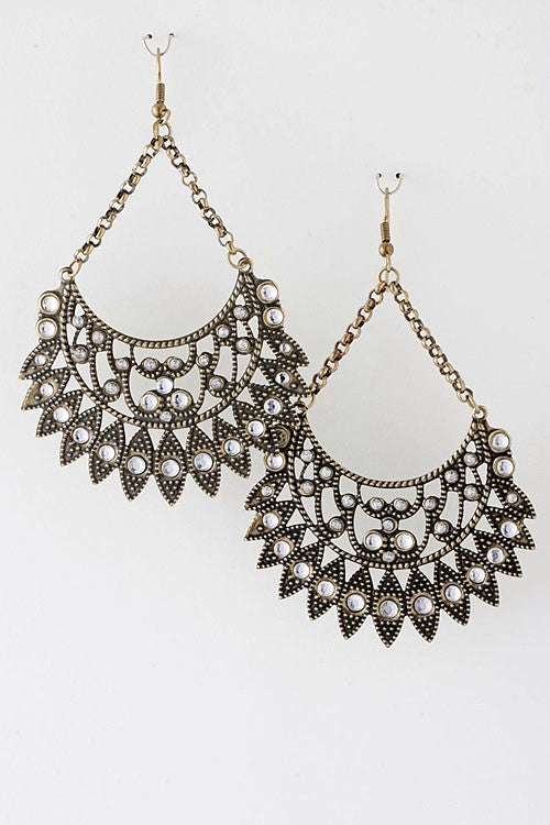 Delicate Details Chandelier Earrings - Antique Gold | JacksonsRunaway