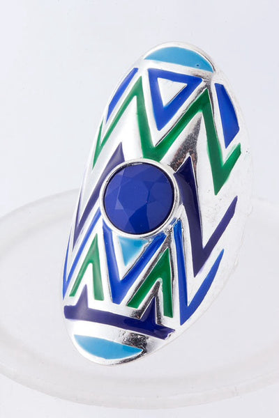 Bright Conquests Stretch Statement Ring | Blue | Rings & Brooches | JacksonsRunaway