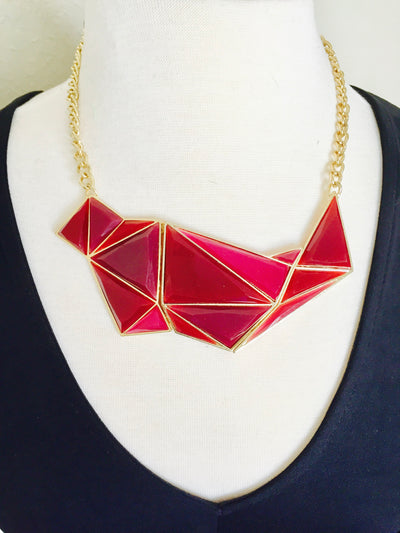 Stained Glass Necklace - Red | JacksonsRunaway