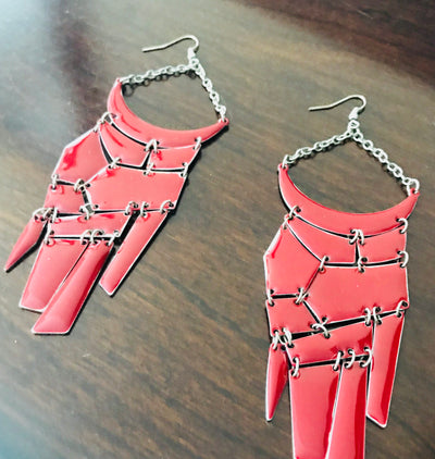 Art District Bound Red Statement Earrings |  | Earrings | JacksonsRunaway