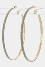Large Sparkles Hoop Earrings