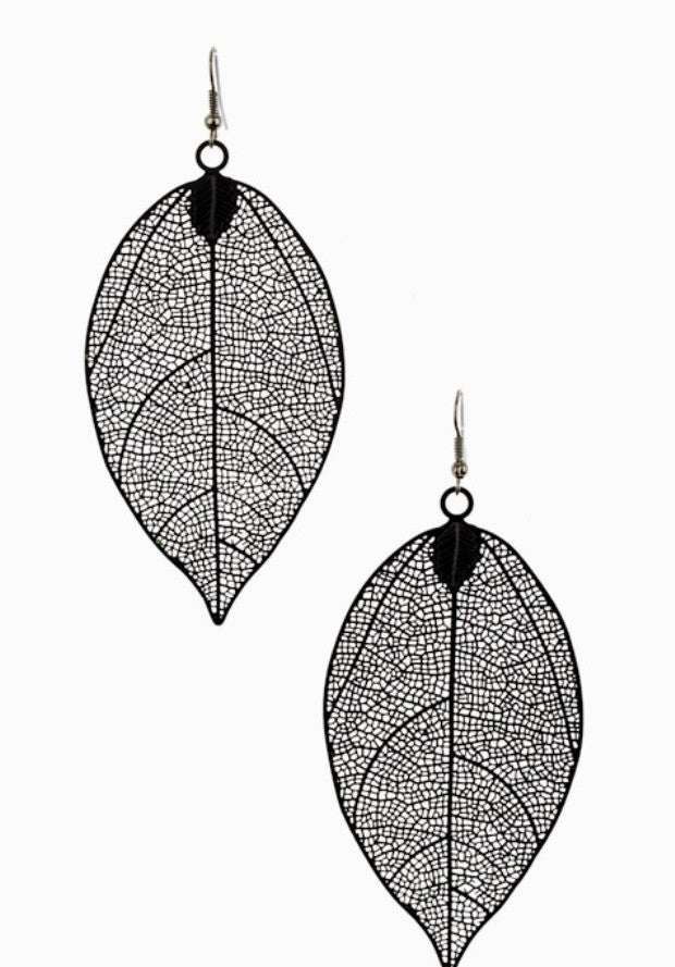 Leaf It To Me Drop Statement Earrings - Jacksons Runaway