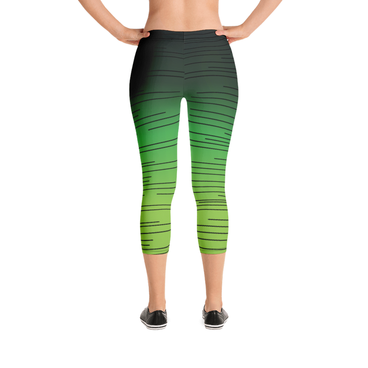 Seeing Green Women's Capri Leggings |  | Activewear | JacksonsRunaway