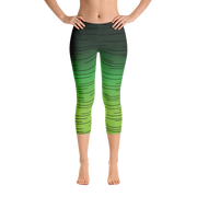 Seeing Green Women's Capri Leggings | XL / Green | Activewear | JacksonsRunaway