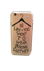 Life is Too Short iPhone 6 Hard Shell Case | Clear | Cellphone Accessories | JacksonsRunaway