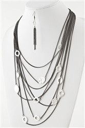 Long Chain Drifter Layered Necklace - Jacksons Runaway