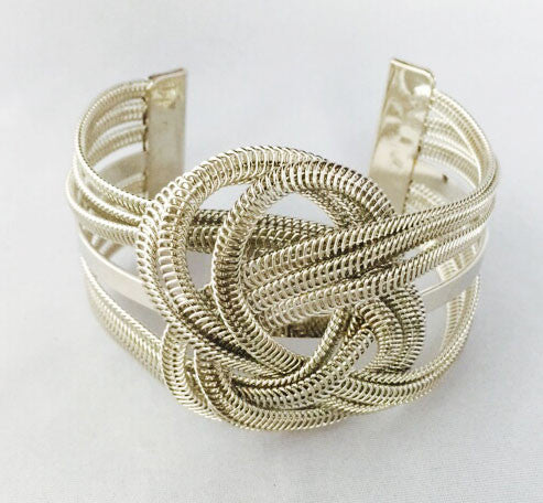 Looped In Cuff Women s Bracelet - Silver | JacksonsRunaway
