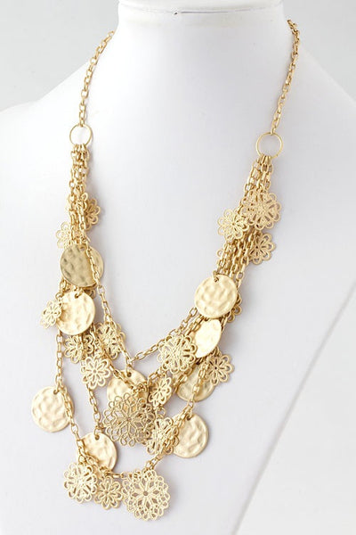 Magic Coins Layered Gold Necklace - Jacksons Runaway