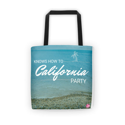 California Parties Tote bag   jacksons runaway.myshopify.com