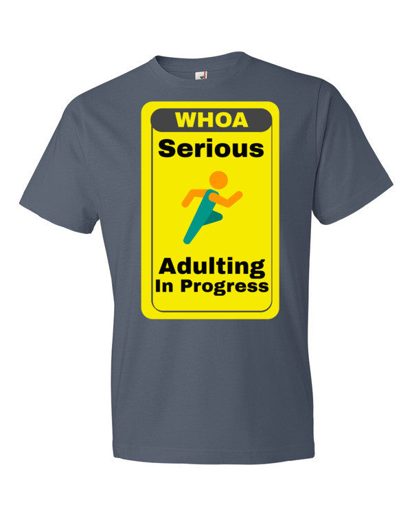 Serious Adulting in Progress! Men's T-shirt | Lake / 3XL | Men's Shirt | JacksonsRunaway