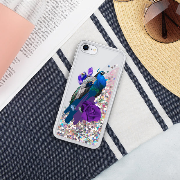 Peacock Liquid Glitter Phone Case | Pink / iPhone 7/8 | iPhone Accessories | JacksonsRunaway