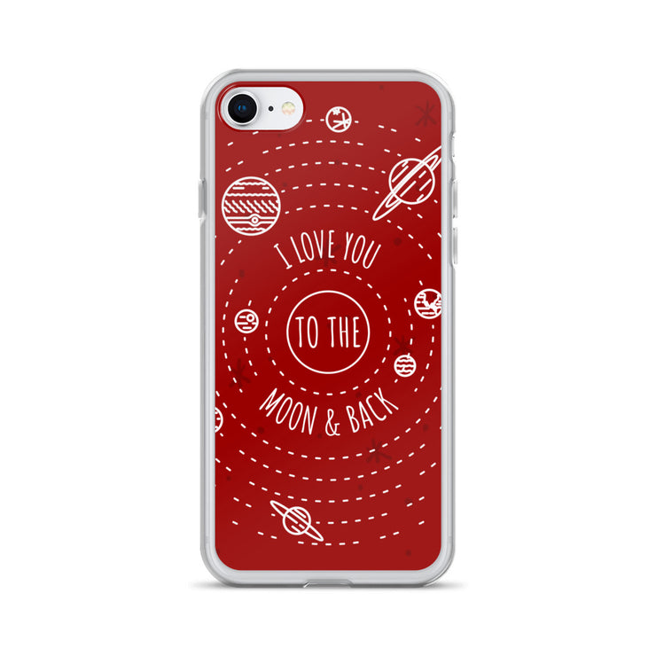 Moon & Back iPhone Case | iPhone 7/8 | Cellphone Accessories | JacksonsRunaway