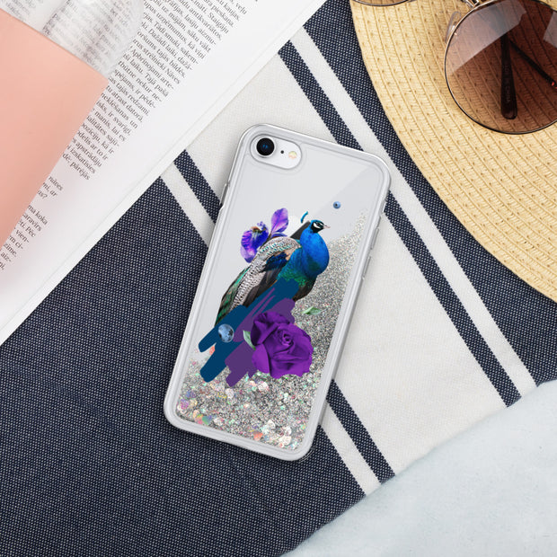 Peacock Liquid Glitter Phone Case | Silver / iPhone 7/8 | iPhone Accessories | JacksonsRunaway