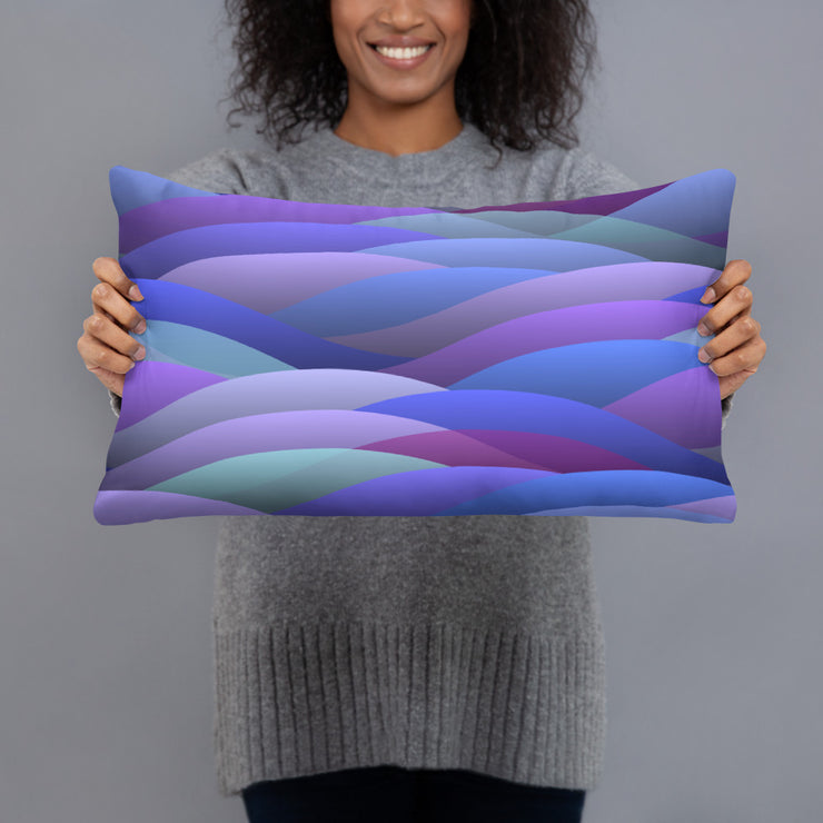 Wavy Pillow Case w/ stuffing