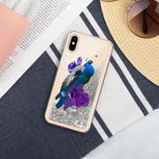 Peacock Liquid Glitter Phone Case | Silver / iPhone X/XS | iPhone Accessories | JacksonsRunaway