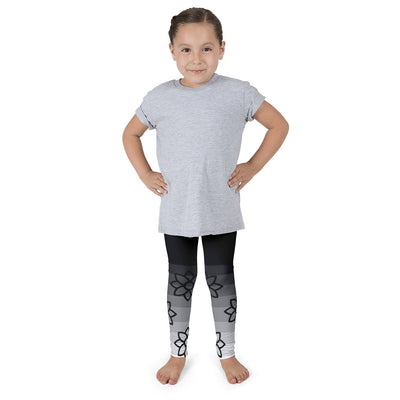 Ombre' Floral Children's leggings | 6X (6-7yr) / Black/Grey | Activewear | JacksonsRunaway