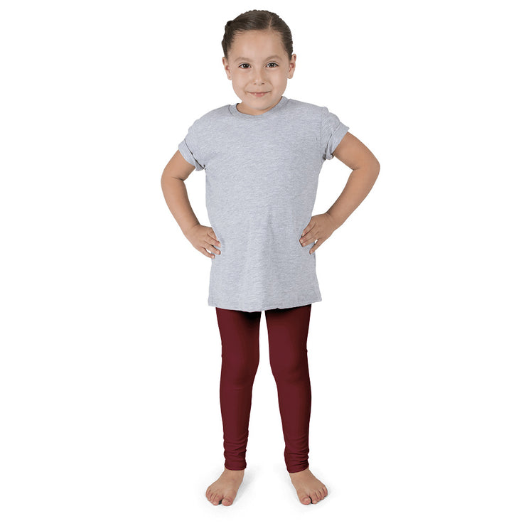 Cranberry Holiday Girl's leggings | 6X (6-7yr) / Cranberry | Activewear | JacksonsRunaway